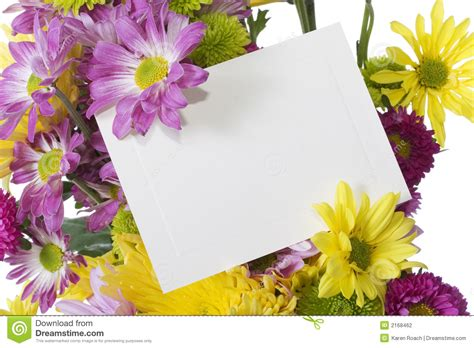 flowers for card flower bouquet with note card stock photo image 2168462