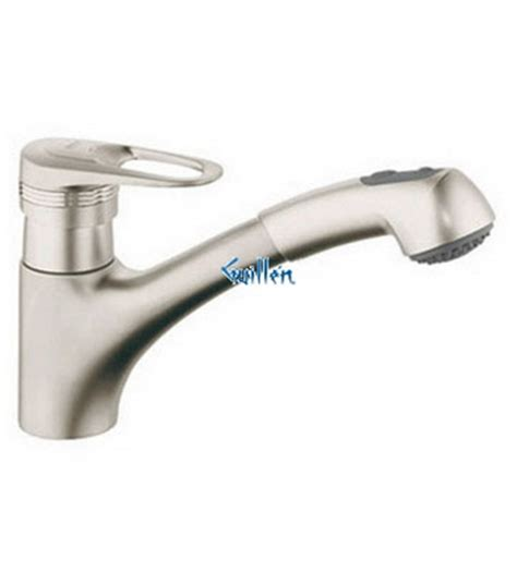 grohe 33939av0 europlus ii low profile pull out dual spray kitchen faucet in satin nickel