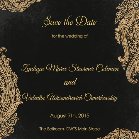 The Wedding Of Valentin And Zendaya Online Invitations Cards By Pingg Com Save The Date Indian Wedding Templates Free