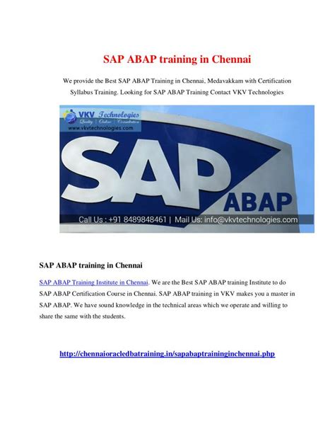 sap tutorial ppt ppt sap abap training in chennai powerpoint presentation