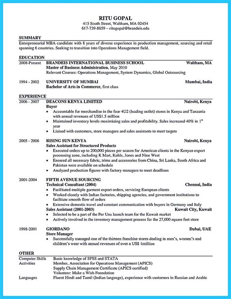 Special Guides For Those Really Desire Best Business School Resume Business Resume Template