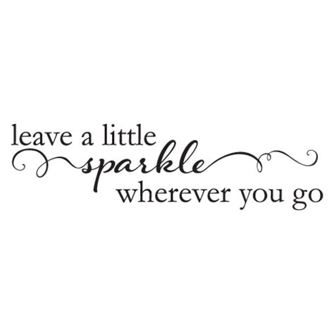Make Your Own Wall Stickers Quotes leave a little sparkle wall quotes decal wallquotes com