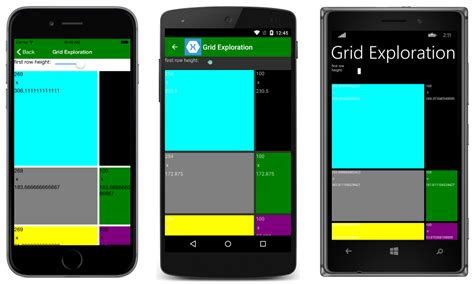 xamarin forms android layout grid xamarin