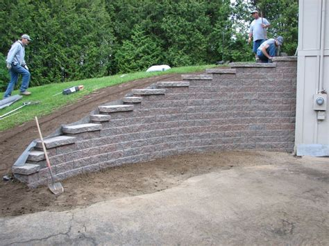 How To Build A Raised Paver Patio Hillside Front Yard With Retaining Wall Residential