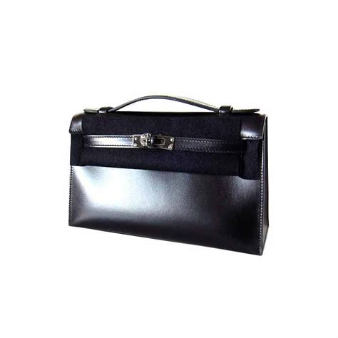 Blackkelly Ltd 271 hermes oh so black pochette clutch limited edition at 1stdibs