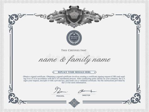 illustrator gift certificate template vector certificate template stock vector illustration