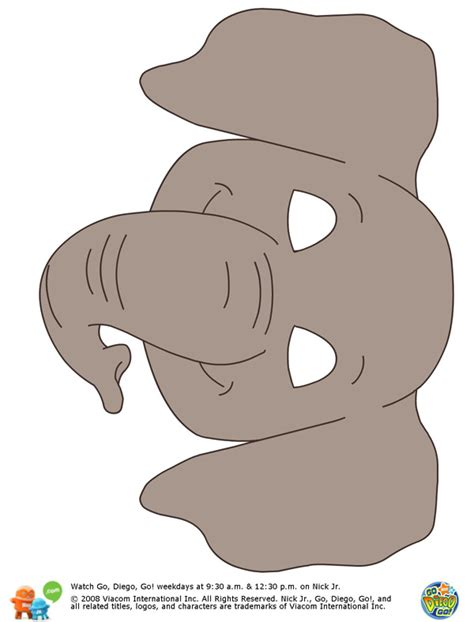 elephant mask template search results for mask templates printable