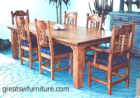 southwest dining room furniture mission dining collection home ideas designs