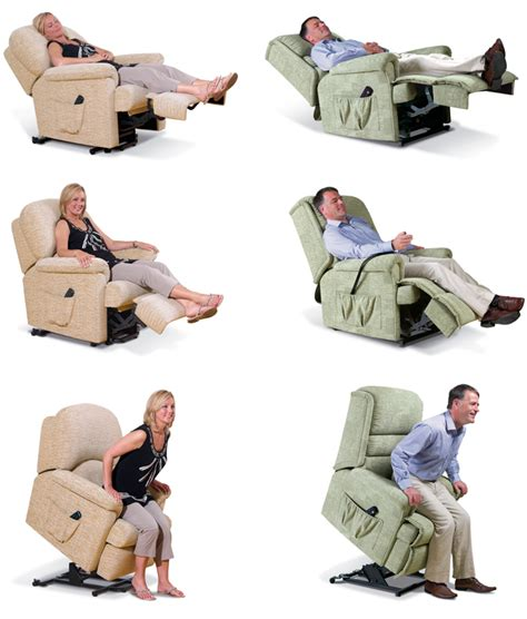Reclined Position by Lift And Rise Recliners Suite Deal