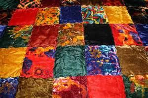 White Queen Comforter 1970 S Hippie Chic Velvet Patchwork Quilt Bedspread King