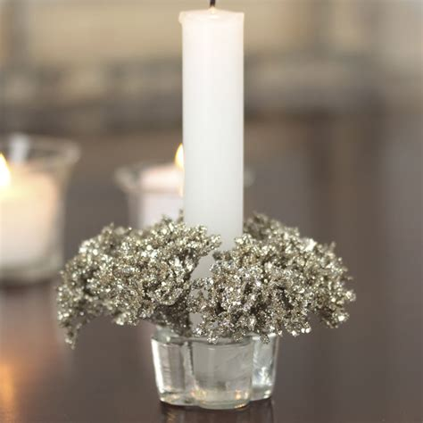 Ring Candles Sparkling Artificial S Lace Candle Ring