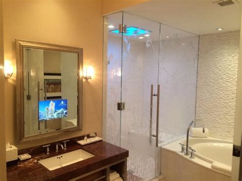 tv for bathrooms reviews bathroom with awesome shower huge tub and a tv in the
