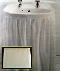 white wipe clean peva sink basin skirt curtain self