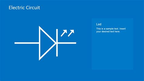 electric circuit powerpoint electric circuit symbols element set for powerpoint