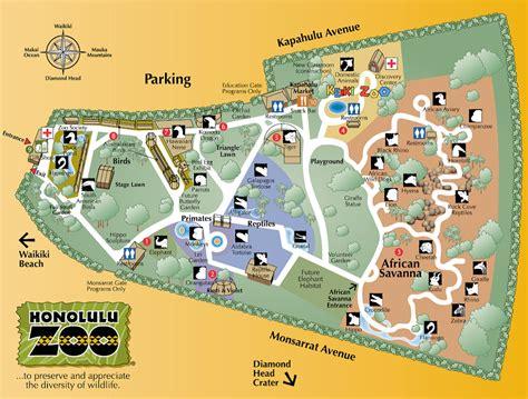 honolulu zoo map 151 kapahulu ave honolulu hilrm mappery