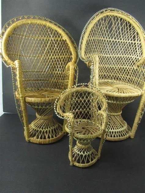 Wicker Fan Chair by Doll Wicker Fan Chair Doll Peacock Chair Doll Wicker Chair