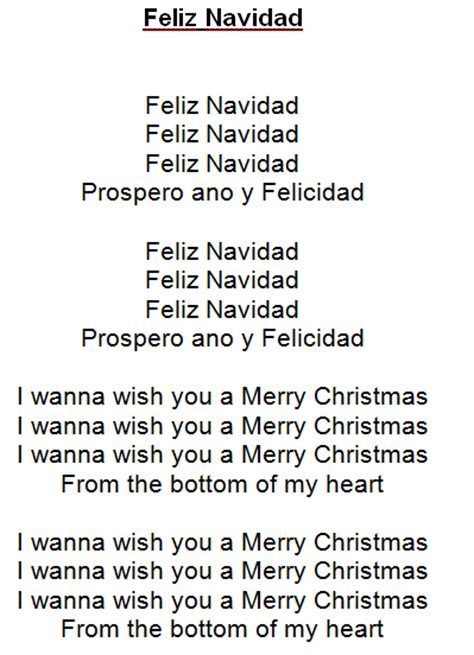 feliz navidad testo feliz navidad tekst kerst liedjes met tekst