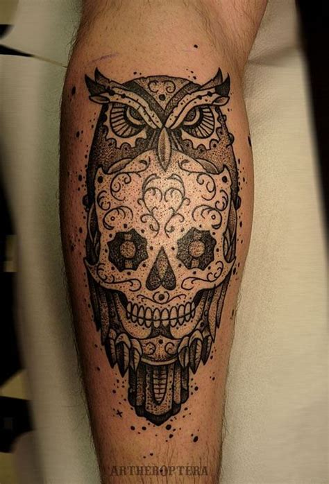 awol tattoo owl and skull designs