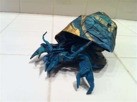 Hermit Crab Origami - origami hermit crab by brian chan by mechaprime 00 on