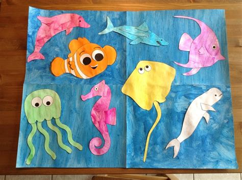 sea creature crafts for craft using printables from learncreatelove