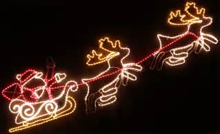 animated 240cm led santa and reindeer christmas motif rope