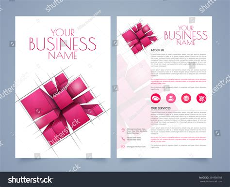 two page brochure template stylish two page business brochure template or flyer