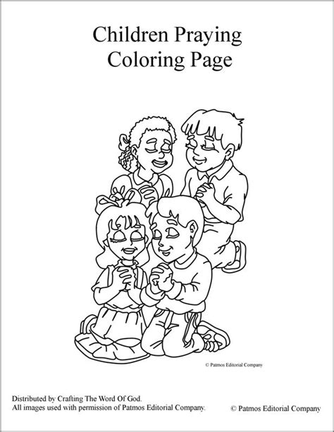 Childrens Praying Coloring Page by Children Praying Coloring Page 171 Crafting The Word Of God