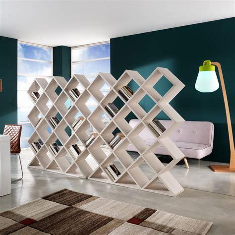 libreria separa ambienti mynest in legno bianco 140 x 160 cm