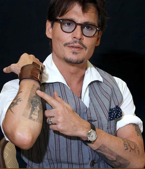 johnny depp word tattoo real photo pictures images and