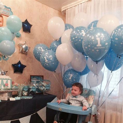 the house decorations for the babies first birthday party 10pcs baby shower 1st birthday party decor white blue