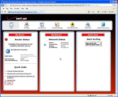 how to reset verizon router network image gallery verizon 192 168 1 1 admin