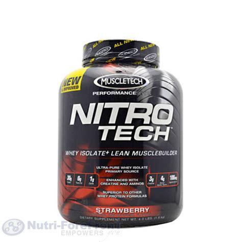 Nitro Tech Whey Protein Muscletech Nitro Tech 4lb Whey Blend Protein