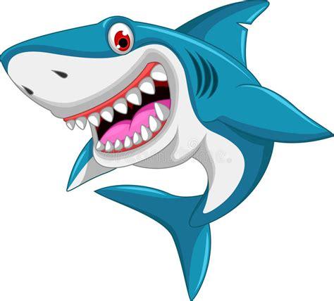 baby shark x2 angry shark cartoon stock illustration illustration of