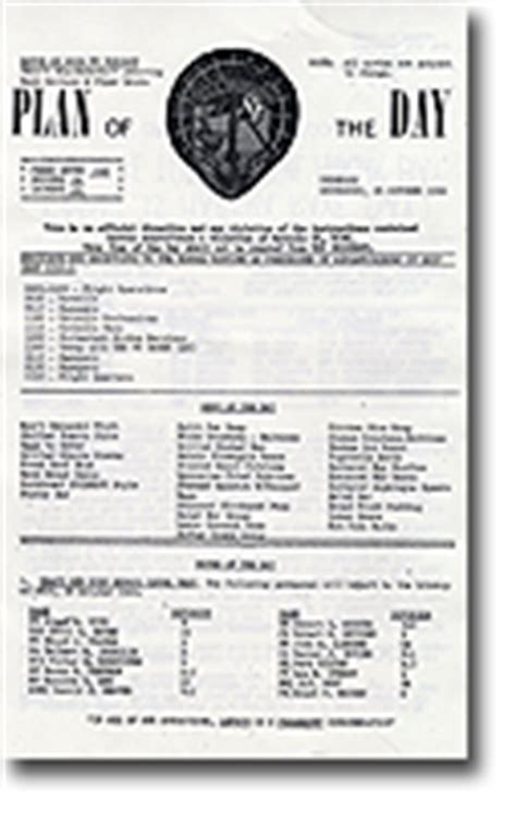 navy plan of the day template uss oriskany artifacts