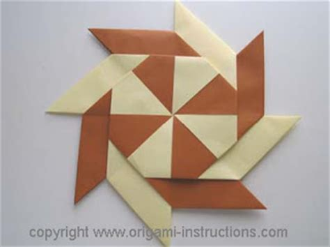 Pinwheel Origami - origami march 2009