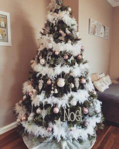 white fluffy christmas trees how to decorate your tree the tinkering spinster