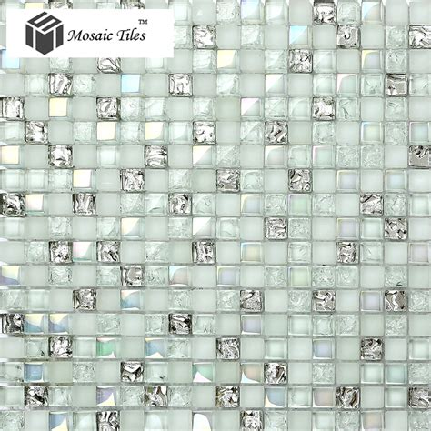 silver mosaic tiles bathroom tst crystal glass mosaic tile aqua iridescent silver diamond shining waterdrops inner