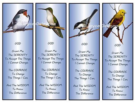 printable prayer bookmarks printable bookmarks artwork of birds by freshairprintables