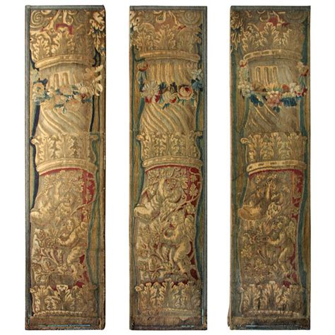 tapestry curtains sale 18th century tapestry panels with cherubs and columns for