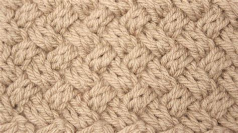 knit in the how to knit the diagonal basket weave knit stitch pattern