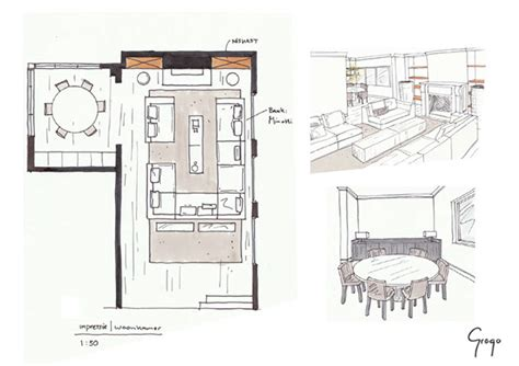 interior design drawings pdf interior free sketches on behance