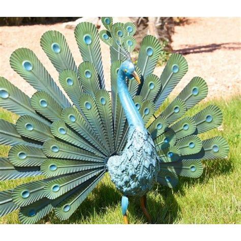 paon en m 233 tal animal d 233 coratif stylis 233 ext 233 rieur d 233 coration jardin