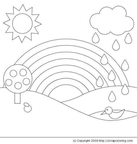 rainbow coloring page coloring pages for kids rainbow coloring pages