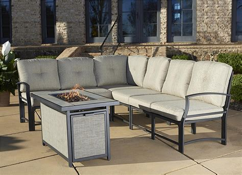 Outdoor Pit With Chairs by Cosco Outdoor Serene Ridge Aluminum Propane Gas Pit