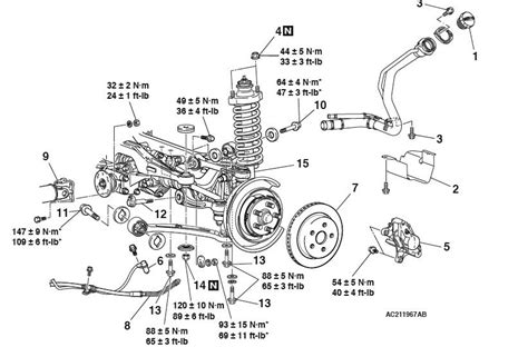 struts layout tags exles rear suspension diagram and torque specs evolutionm