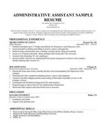 Administrative Assistant Resume by Use This Administrative Assistant Resume Sle To Help You Write Your Own And Read Our