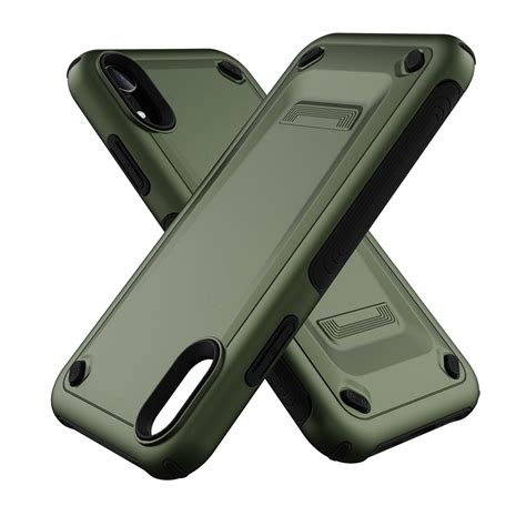 ultra thin tpu pc mechanic shockproof protective for iphone xr army green alexnld