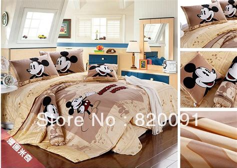 Bedcover Set Motif Mickey Mouse 160x200 Bed Cover Set Sprei Grow happy mickey mouse bedding duvet cover set