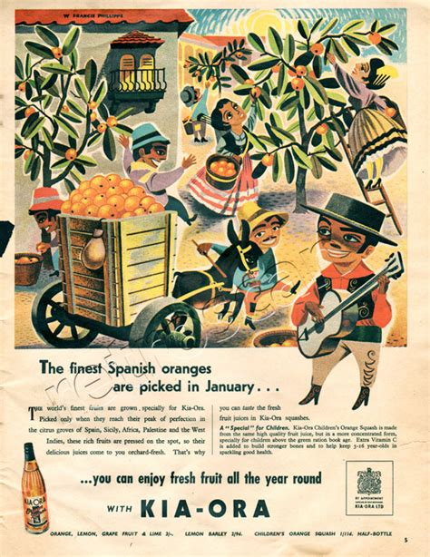 Kia Ora Advert 1951 Kia Ora Orange Squash Vintage Advert Retrofair
