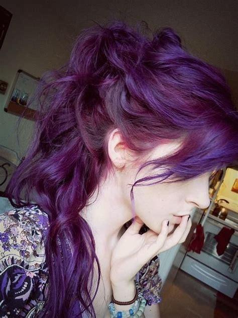 glamorous purple hairstyles pretty designs